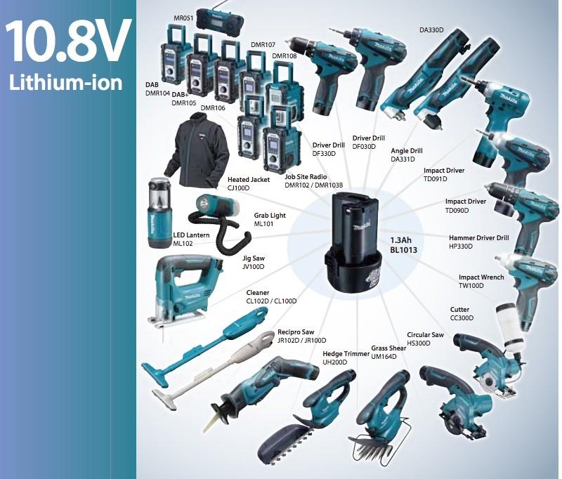 makita 10.8V lithium-ion serie